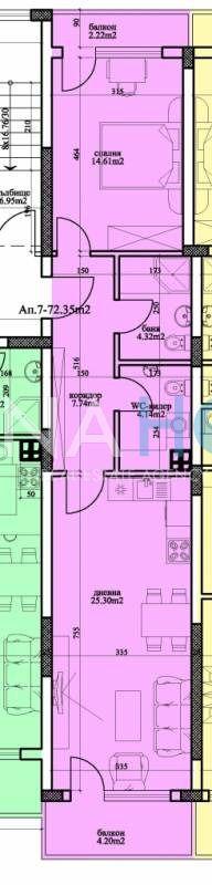 Двустаен тухлен апартамент в района…